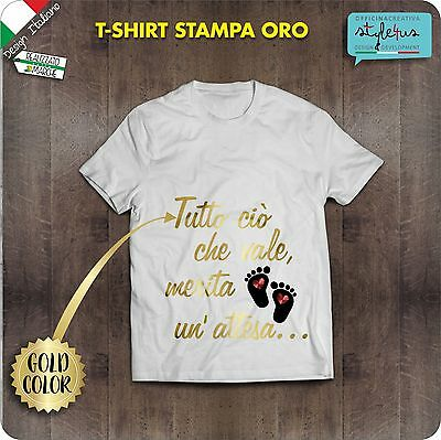 T-shirt donna incinta Con stampa in Oro