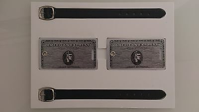 2x American Express Platinum luggage tags - Amex Centurion VIP gift  - HON