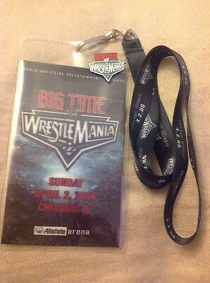WWE Wrestlemania 22 XXII Lanyard With Pin Badge WWF ECW TNA WCW