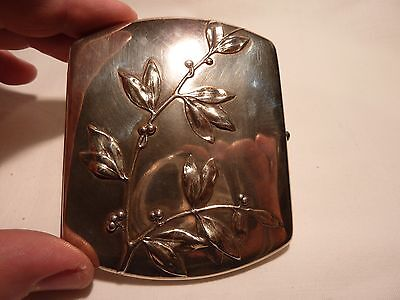Art Nouveau Solid Silver Cigarette Case With Lovely Floral Design