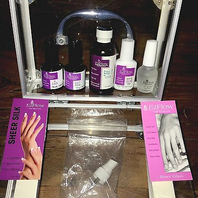 EZFLOW Fibreglass And Silk Wrap System And Case Nails Student Mostly New