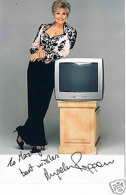 Angela Rippon News reader and presenter Hand Signed Photograph 6 x 4