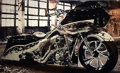 "Harley Touring Custom Dark Road Glide 5"" Wind Deflector Windshield 1998-2013"