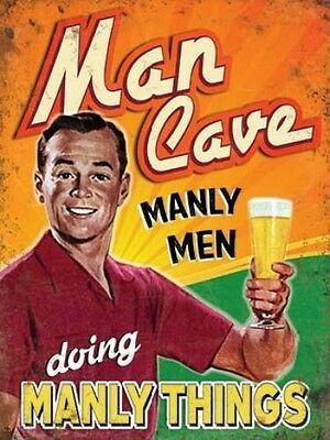 MAN CAVE MANLY MEN DOING MANLY THINGS - PUB BAR Club Decor DAD BEER METAL SIGN