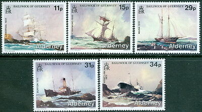 GB - ALDERNEY 1987 Shipwrecks Set SG A32-36 MNH SHIPS