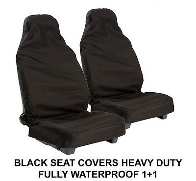 Ford Escort Estate All Years Black Water Resistant Front Seat Covers(1+1)