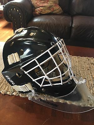 Bauer 960 Pro Ice Hockey Goalie Mask Helmet Senior Itech 961 W/ Vaughn Throat