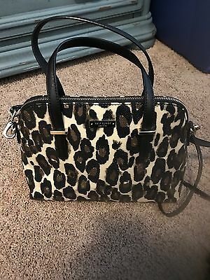 33b3b6896cb NWT Kate Spade New York Cedar Street Leopard Maise Satchel Shoulder HandBag