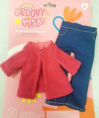Groovy Girls Doll Clothes Outfits 123235 Sassy Sweater and Skinny Jeans NEW NWT