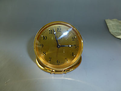 Imhof Travel Clock 8 Day Made In Switzerland In Leather Case + Certificate
