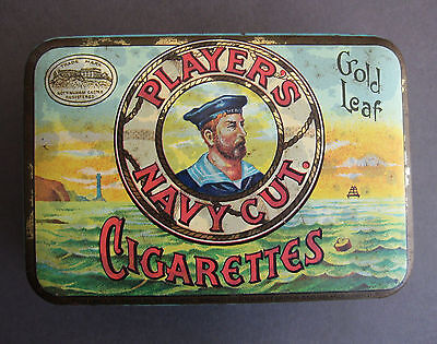 Player's Navy Cut Gold Leaf Cigarettes vintage tobacco tin - NOT the 1970s repro