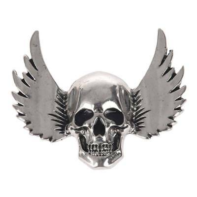 Vintage Brooch For Men Halloween Skull Wings Brooches Pins For Women Scarf  F5W3
