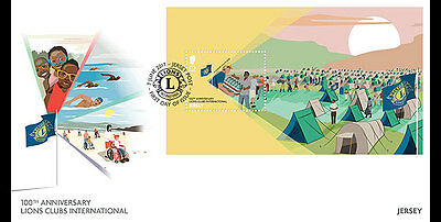 Jersey 2017 100th  Lions Club International 1917 founded Melvin Jones ms1v FDC
