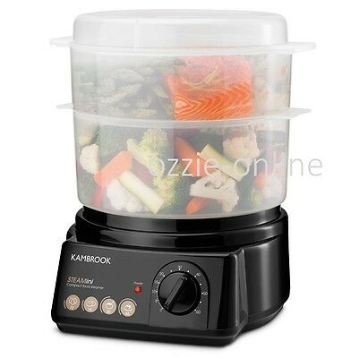 Electric Food Steamer Compact Healthy Cooker Timer BPA Free Vegetable Dumpling