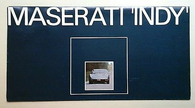 MASERATI 'INDY' Original Factory Brochure