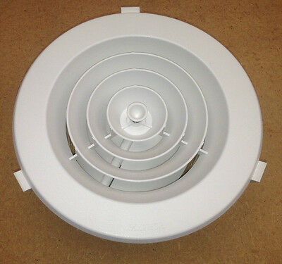 """3 x DUCTED HEATING HEATER CEILING OUTLET VENT ROUND DOWNJET 6""""150mm CEILING VENT"""