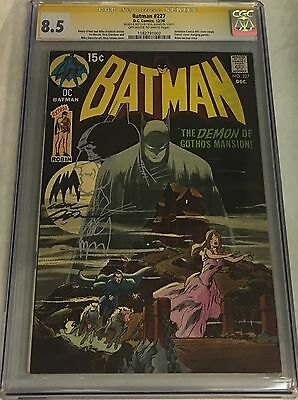 Batman #227 Signed & Sketched by Neal Adams CGC 8.5 SS DC Comics