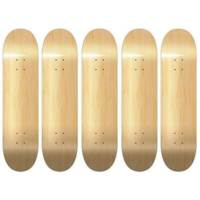 Cyres Internet Mall 5 Blank Skateboard Decks Natural 8.0 With Grip Tape