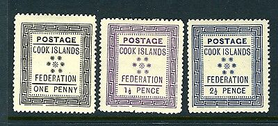 Cook Is. #5-7 Federation Issue - MINT (Hinged) - NICE  $122.50