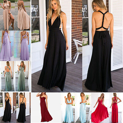 Womens Clothing Evening Party Dress Cocktail Formal Prom Multi-way Wedding Dress