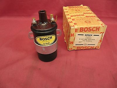 NOS Early Bosch 6 Volt Black Coil – German VW Porsche 356