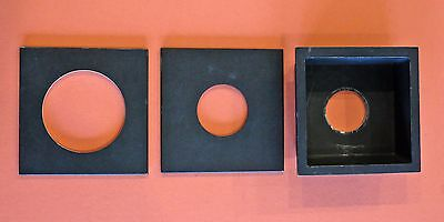 "4"" sq. Wisner, B & J , Graphic View black lens boards"