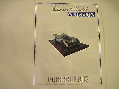 "Classic Models Museum   1/12  Porsche 917 K "" Martini""  Model Kit  /   Le mans"