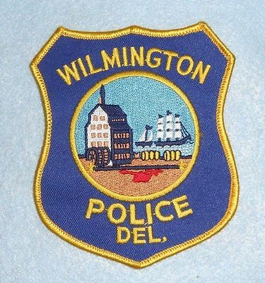 "Wilmington Police Dept Patch - Delaware - 3 7/8"" x 4 5/8"""
