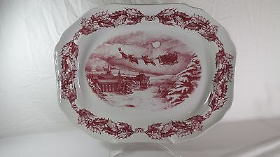 Saint Nick Platter by Spode for Williams Sonoma