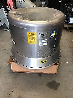 NOS Power Line Chelsea Ventilator Downblast Exhaust Fan Kitchen Roof Restaurant