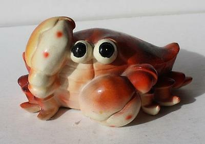 Cute Little K's Collection Composite Material Bug Eyed Crab Orange Color Figure