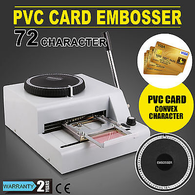 72 Letter Manual Embosser Machine PVC Gift Card Credit ID VIP Stamping Embossing