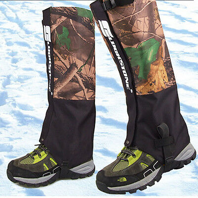 US Waterproof Mountain Climbing Snake Gaiters Outdoors Trekking Boots Leggings