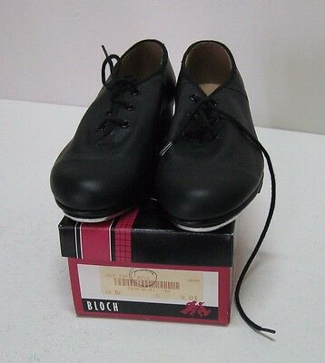 Bloch Jazz Tap Boy's  Leather Lace Up Tap Dance Shoes, Black, Size 13.5, New