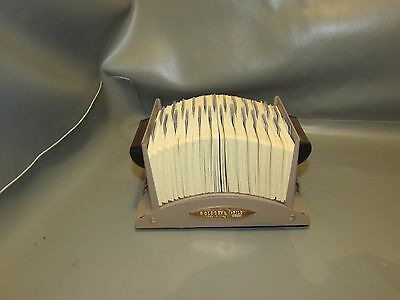 Classic Metal Rolodex V524 V-File Open Tray Card File  with Adjustable Stand