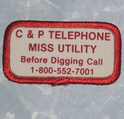 C & P Telephone Miss Utility Patch