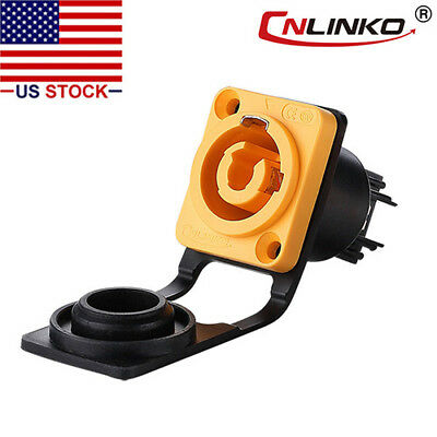 3 Pin Power Industrial Connector Socket Waterproof IP67 Compatible w/ Neutrik