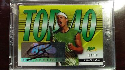 2013 Leaf Ace Authentic Rafael Nadal Green auto 4/10