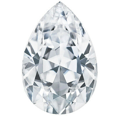 Forever Brilliant 3.57 ct Pear Charles Colvard Moissanite Stone 12x8mm Loose