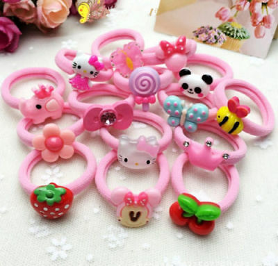 10/20pcs Baby Kids Girl Hair Bobble Bow Floral Toddler Girls Elastic Hair Bands