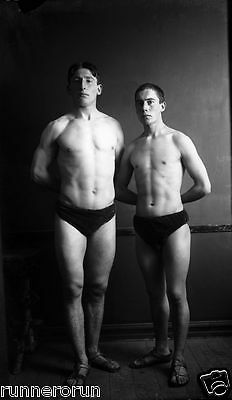 Vintage 1911 Reprint Photo Of Male Swimmers In Iceland - Gay Interest, Bulge