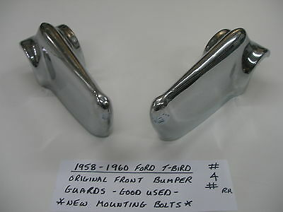 1958-1959-1960 Ford Thunderbird *Bumper Guards *    ( #4 Pair )