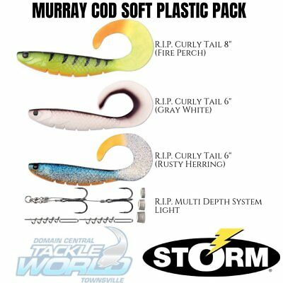 Storm RIP Curly Tail Murray Cod Pack (4 pce Soft Plastic Lure Pack) BRAND NEW