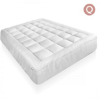 NEW Queen Bed Size 1000GSM Duck Feather and Down Pillowtop Mattress Topper 5cm
