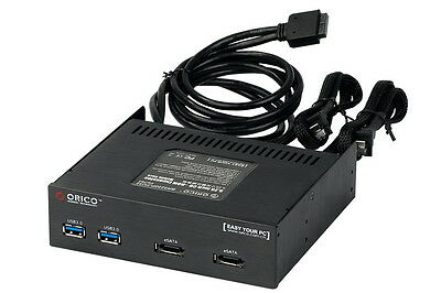 """ORICO 5.25"""" Front Panel Hub with Dual eSATA & 2 USB3.0 Ports to 20Pin Connector"""