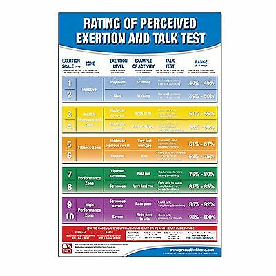 Productive Fitness Poster Exercise Exertion Level Rating