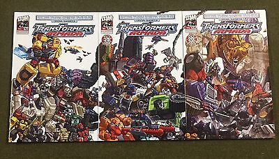 """Transformers Armada #1,2,3 More Then Meets The Eye """"Guidebook"""" Connecting Covers"""