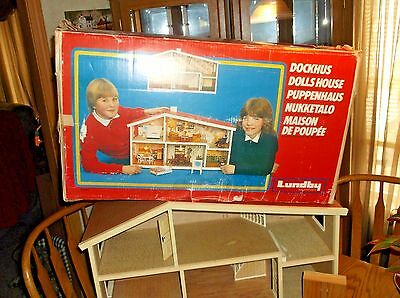 Vintage Lundby Dollhouse With Accessories And Original Box