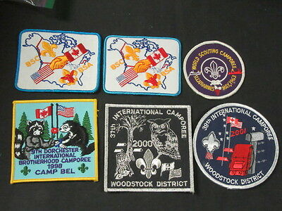 Scouts Canada -- BSA International Camporee Patches Lot of 6     FX