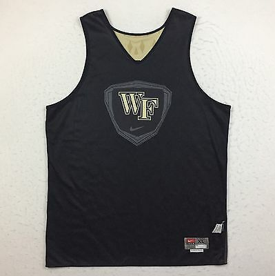Nike Wake Forest Team Issue Practice Worn Reversible Basketball Jersey Men's XL